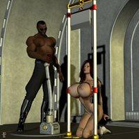 Fine dark erotic guillotine art bitch love