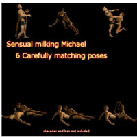 Darkdesire's Milking Michael pose set