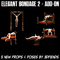 3DFiends' Elegant Bondage 2 - Add On Props