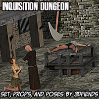 3DFiends' Inquisition Dungeon Set and Poses