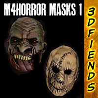 3DFiends' M4 Horror Masks 1