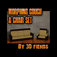 3DFiends' Morphing 3 Cushion Couch and Oversized Chair