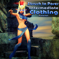 Zbrush to Poser Intermediate Clothing Tutorial