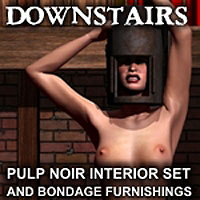 "Davo's Pulp Noir Series ""Downstairs"" Interior Setting and Bondage Furnishings"