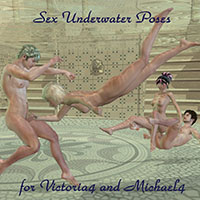 MaxTron´s Victoria4 and Michael4 Underwater Sex Poses
