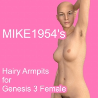 Hairy Armpits For Genesis 3 Female