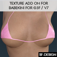 Texture Add On For Babekini For G3F / V7