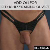 Texture Add On For RedLightZZ's Ouvert String For G3Males