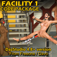 Facility 1 Core Package For DazStudio 4.8+
