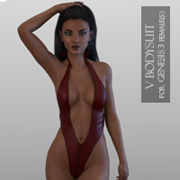 V Bodysuit For Genesis 3 Female(s)