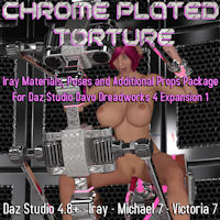 Chrome Plated Torture 2 For Daz Dreadworks 4 Expansion Pack 1
