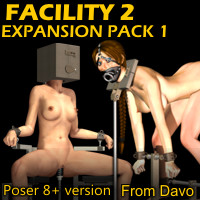"""Facility 2"" Expansion Pack 1 For Poser 8+"