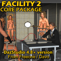 """Facility 2"" Core Pack For DazStudio 4.8+"