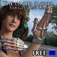 The Caged Gloves For G3F
