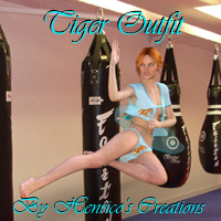 Tiger Outfit For Genesis 2 Females