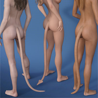 EasyPose Tail For Genesis 3 Females
