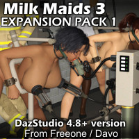 """Milk Maids 3"" Expansion Pack 1 For DazStudio 4.8+"
