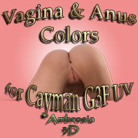 Vagina And Anus Colors For Cayman UV G3F