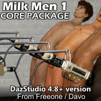 """Milk Men 1"" Core Pack For Daz Studio"