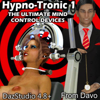 """Hypno-Tronic"" Mind Control Devices For Daz Studio 4.8+"