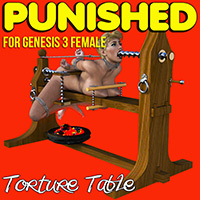 Punished - Torture Table For G3F