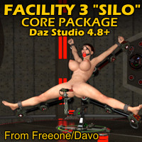 "Facility 3 ""Silo"" Core Package For Daz Studio 4.8+"