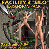 "Facility 3 ""Silo"" Expansion Pack For Daz Studio 4.8+"