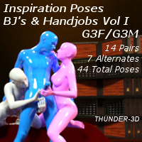 Inspiration Poses - BJ's And Hand Jobs Volume I