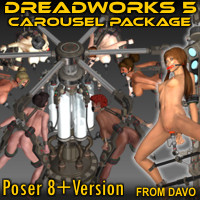 """Dreadworks 5"" Carousel Pack For Poser 8+"