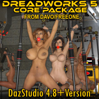 """Dreadworks 5"" Core Package For DazStudio 4.8+"