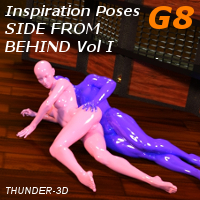 Inspiration Poses G8 - Side From Behind Volume I