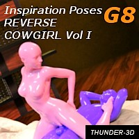 Inspiration Poses G8 - Reverse Cowgirl Volume I