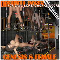 Dreadful Poses For Davo Dreadworks 5 Core Pack Daz Studio 4.8+