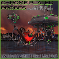 Chrome Plated Probes For Davo Imperial Probes Daz Studio