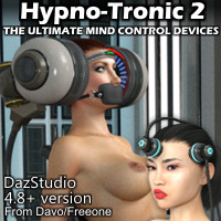 """Hypno-Tronic 2"" Mind Control Devices For Daz Studio 4.8+"