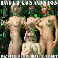 "Legacy Classic Davo ""Genesis 8 Female Gags And Masks"""