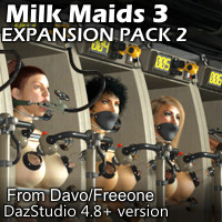 Milk Maids 3 Expansion Pack 2 for DazStudio 4.8+