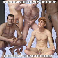 Male Chastity For Genesis 8 Male Genital Daz Studio