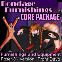 Bondage Furnishings Core Package For Poser