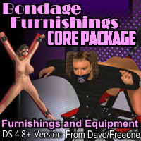 Bondage Furnishings Core Package For Daz Studio