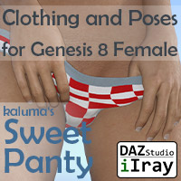 Sweet Panties For Genesis 8 Female