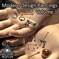 NoFun's Modern Design Piercings Volume 1