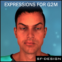 Facial Expressions for Genesis 2 Male