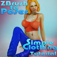 Zbrush to Poser Simple Clothing Tutorial
