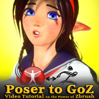 Poser to GoZ Zbrush Video Tutorial