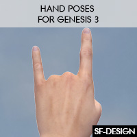 Hand Poses For Genesis 3 Characters