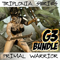 Triplonia Primal Warrior Bundle For G3F