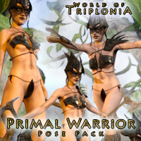 Triplonia Primal Warrior Poses For G3F