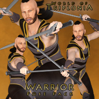 Triplonia Warrior Pose Set For G3M