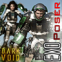 Dark Void Exo Suits And Docking Bay BUNDLE Poser